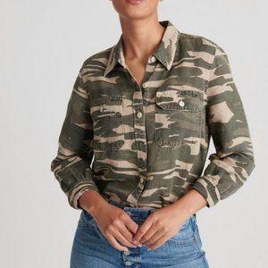 Lucky brand camo button down utility shirt/jacket